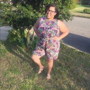 Madison Pants - LAST CHANCE FIRM Tropical Romper